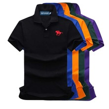 Men Polo Shirt  Embroidered Pattern Fashion Polo Men Stretchy Short Sleeve Polos Para Hombre Brand Summer Tops P10 недорого