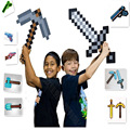 Nuevo 2014 Juguetes Espada Minecraft Piqueta Arma Minecraft Juego Props Modelo Juguetes Niños Juguetes de Cumpleaños y Regalos de Navidad 18-23 pulgadas
