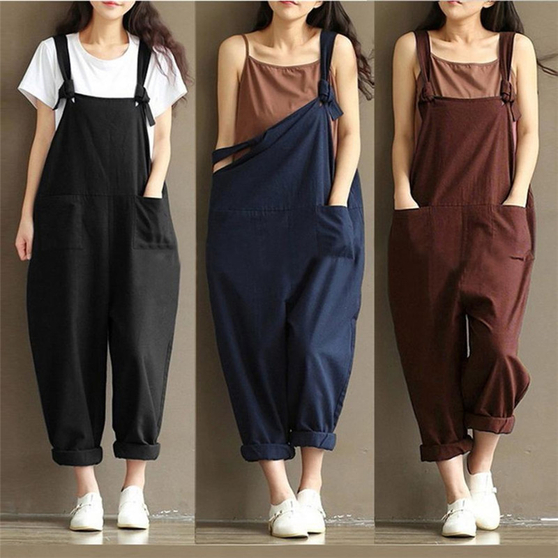 women's Summer Sexy   jumpsuites   Strap Belt Bib Pants Trousers Casual Overall Pants sexy romper dropship x3054