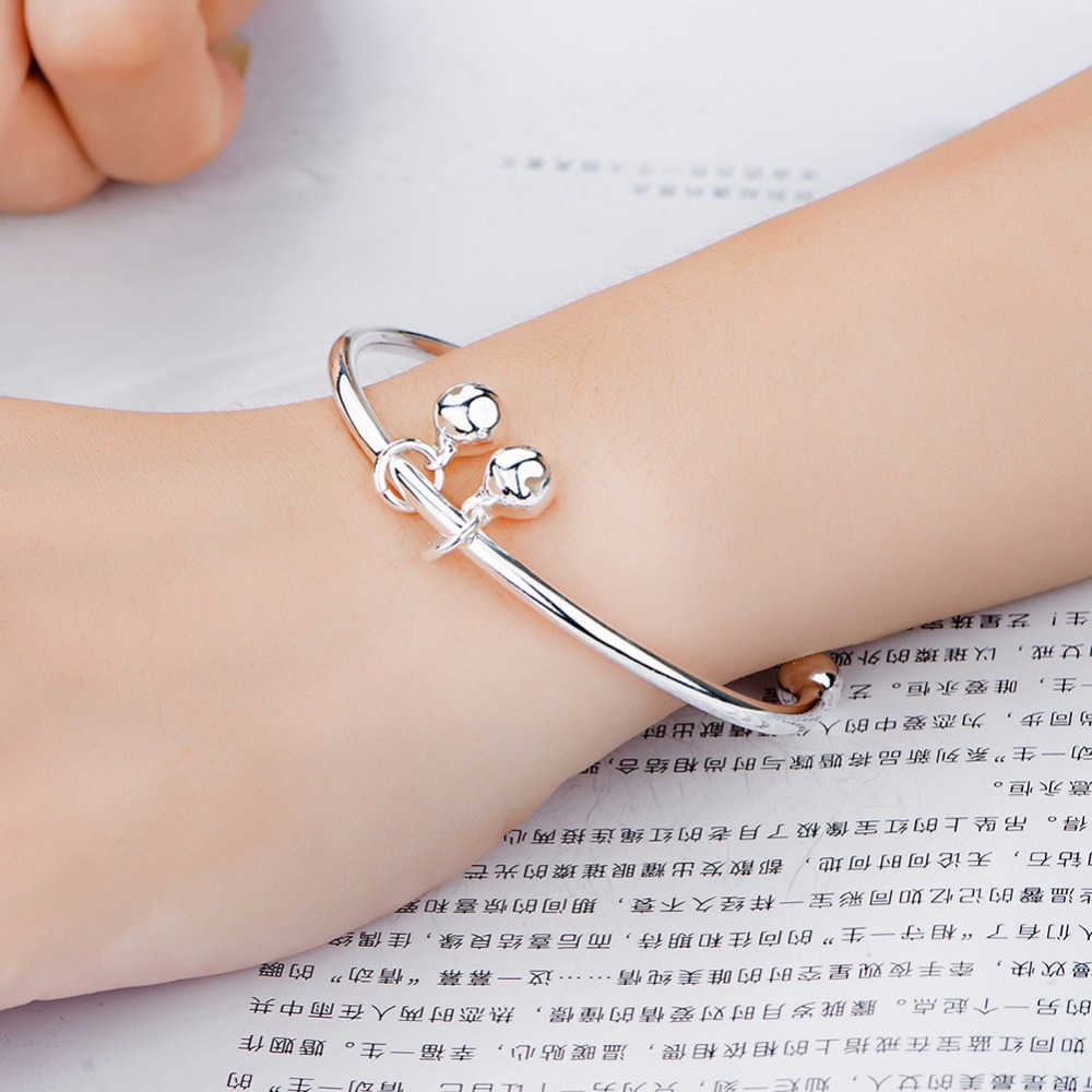 heart baby zirconia infant bangles bangle with personalisation be bracelets can cubic bracelet personalised sterling silver babies childrens
