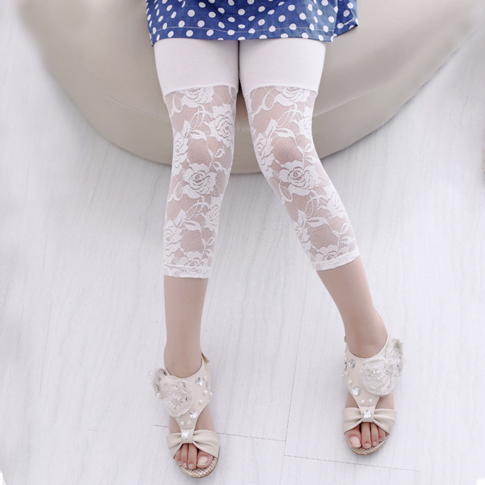 squarex Girls Pants Kids Baby Girls Printing Flower Ninth Pants Tight Toddler Leggings