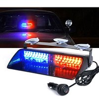Car 16 LED Red/Blue Amber/White Signal Viper S2 Police Strobe Flash Light Dash Emergency Flashing windshield Warning Light 12v
