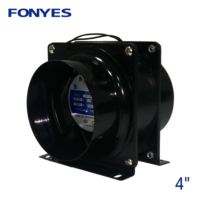 4 inch AC <font><b>fan</b></font> mini cooling <font><b>fan</b></font> inline <font><b>duct</b></font> <font><b>fan</b></font> ventilator air vent air extractor radiator axial exhaust ventilation <font><b>fan</b></font> <font><b>100mm</b></font> image