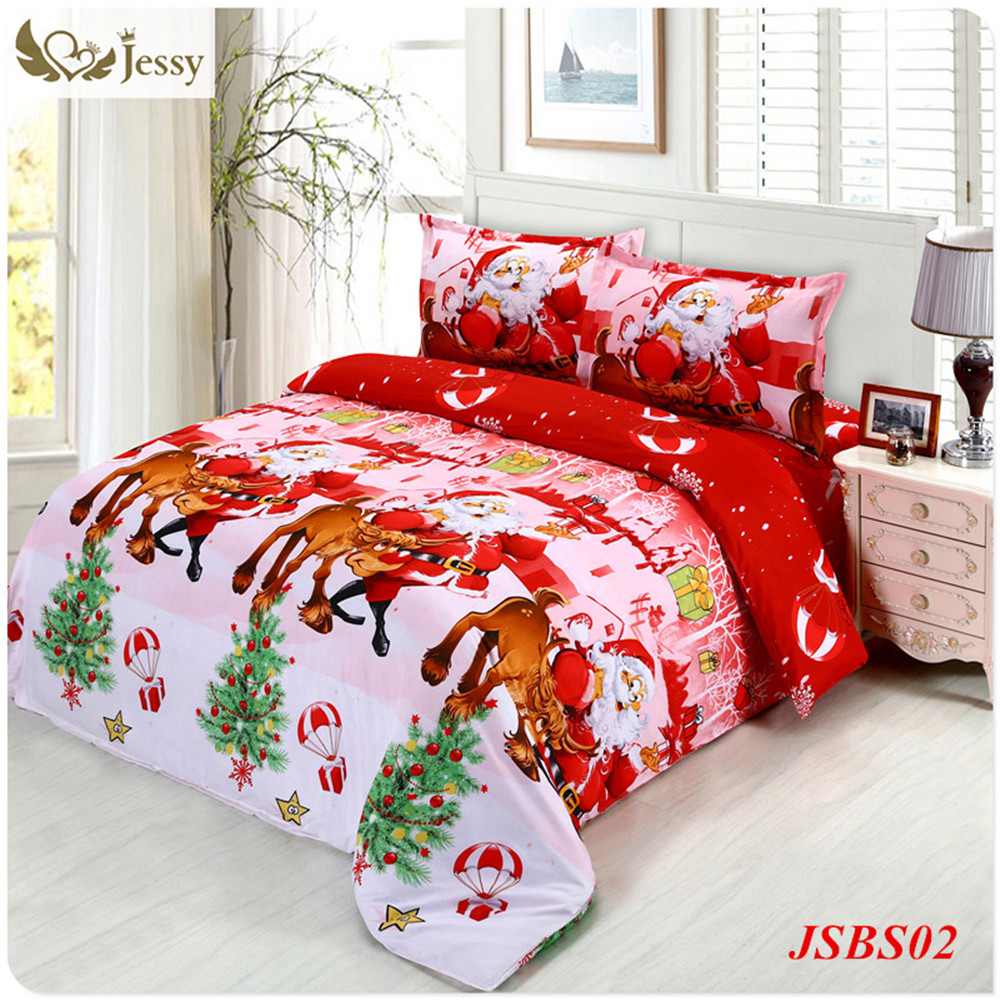 jessy home christmas merry kids cover twinqueen size 4pc santa claus