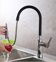 Free Shipping 360 Degree Swivel Brass Pull Out Kitchen Faucet Golden Basin Sink Mixer Tap Swivel