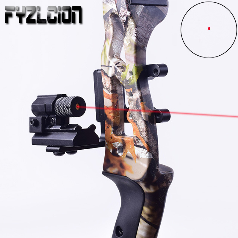 Compound Bow Hunting Red Dot Mini Red Laser Sight Rail Mounting Adapter Stabilized Aluminum Compound Bow Alloy Hunting Archery