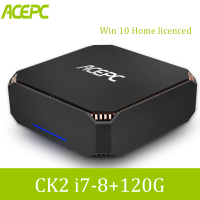 ACEPC CK2 Mini PC Intel Core i7 7500U Windows 10 Home licenced 8GB DDR4 120GB SSD Ethernet/4K/WiFi Built in Fan Desktop Computer