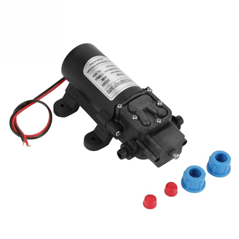 Dc 24 V Membran Pumpe 60 Watt 5l/min Miniatur Hochdruck Elektrische Selbstansaugende Vakuum Wasser Pumpe 1,5 Mt/4.92ft 0.5mpa Starke Verpackung Pumpen, Teile Und Zubehör