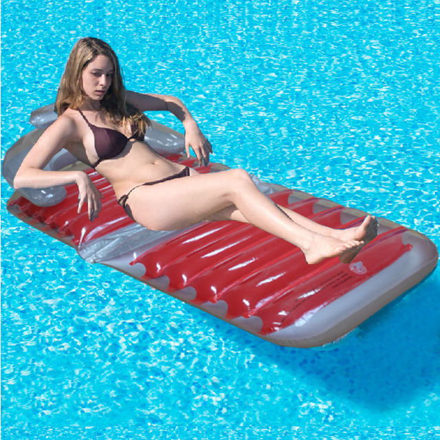Inflatable Pool Floats Comfortable Foldable Chair Floating Bed Lounge Beach  Pool Raft Air Mattress PVC Free