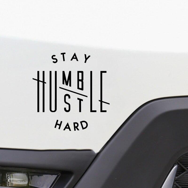 Stay Humble Hustle Hard Car Window Sticker 2