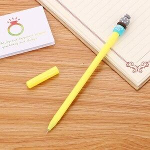 Image 2 - 100 шт. креативные канцелярские принадлежности кактус нейтральная ручка Милая мультяшная Студенческая игла водная ручка офисные принадлежности Подпись кавайная ручка