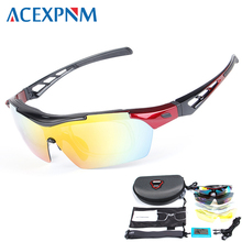 ACEXPNM Polarized Glasses Cycling Sunglasses For Sports Bicycle Goggle Eyewear 5 Lenses UV400