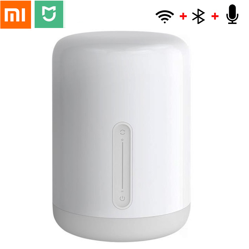 Xiao mi mi jia lampe de chevet 2 Smart coloré LED veilleuse commande vocale commutateur tactile mi maison App ampoule pour Apple Homekit Siri