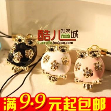 E9214 queer accessories fashion cutout owl mobile phone chain key chain bag pendant