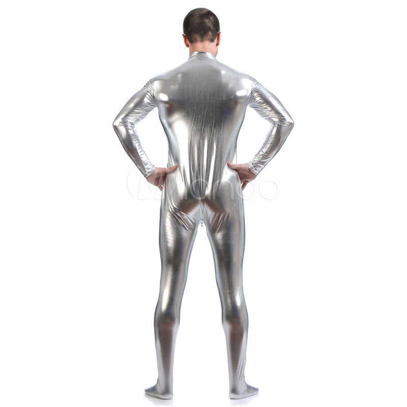 4e0e94398 High Quality Adult/Children Mens Halloween Shiny Metallic Cosplay Costumes  Men Male Silver Zentai SuperHero Costume Suit 6 Color
