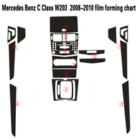 Car Styling 3D/5D Carbon Fiber Car Interior Center Console Color Change Molding Sticker Decals For Mercedes Benz C Class W203