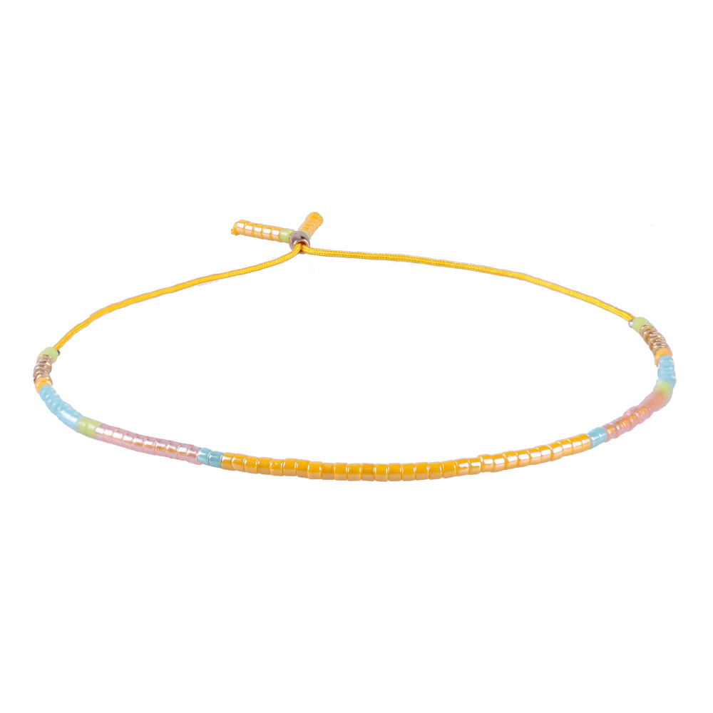 C. QUAN CHI Bijoux 1 PC Nouveau Cristal Perles de Rocaille Amitié Strand Bracelets Réglable Pendentif Perlé Charme Bracelets Pour femmes