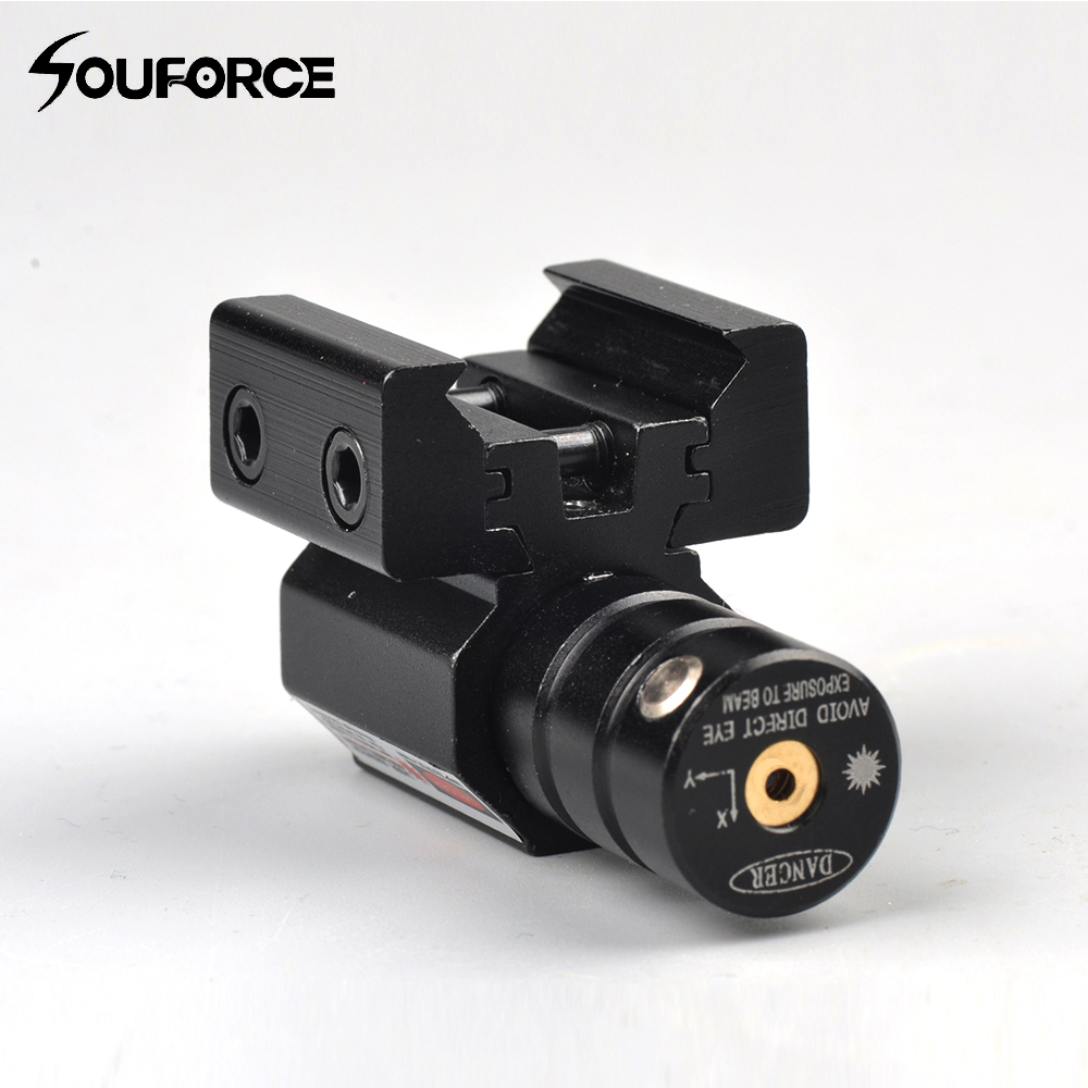 Kleine Red Dot Laser Sight met 50-100 meter Bereik 635-655nm voor pistool Verstelbare 11mm 20mm Picatinny Rail