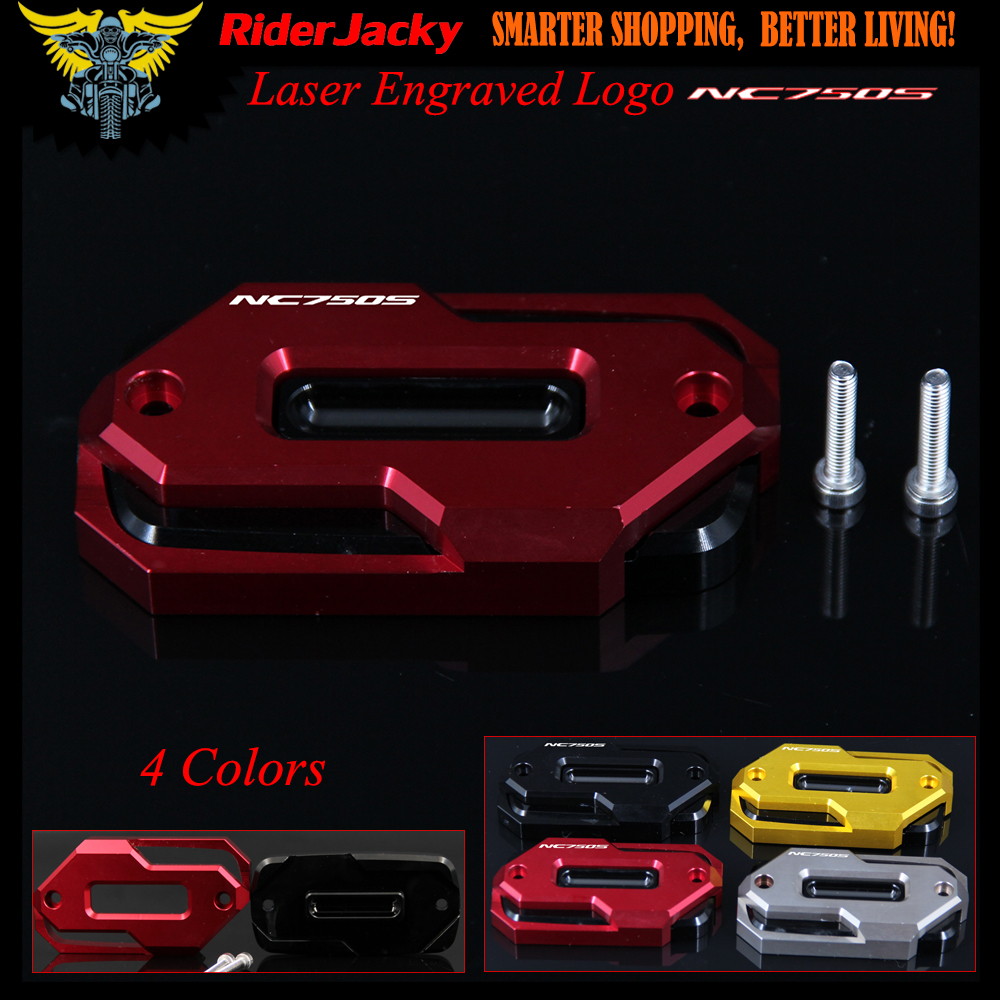 Logo Red Motorcycle Front Brake Master Cylinder Fluid Reservoir Cover Oil Cap For HONDA NC750S NC750 S NC 750S 2014-2016 2015 grey red beige blue embroidery logo car seat cover front