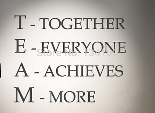 English quote for Team Spirit to motive Office members ...