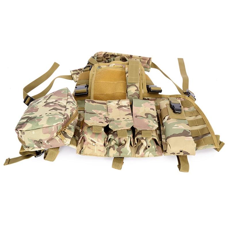 MEGE Tactical Vest Military Airsoft Camouflage Uniform, Combat Vest Amy Clothing US Navy Seal Colete Tatico Python Chaleco