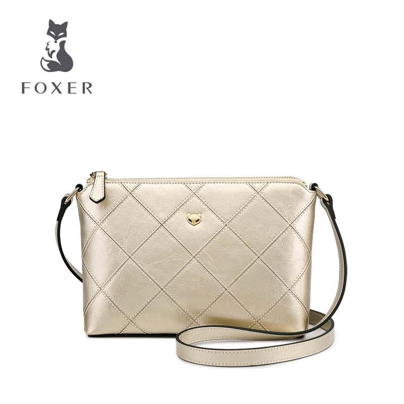 все цены на FOXER brand bags Female killer bag Shoulder bag handbag 2018 new European and American tide casual wild Messenger bag онлайн