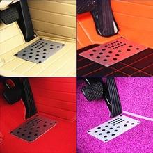 ФОТО universal metal auto cars antiskid foot floor carpet mats pads anti-skid mat pad footpad pedal 1pc