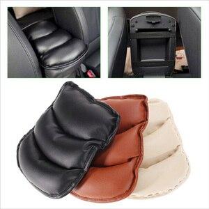Image 1 - באיכות גבוהה אוניברסלי רכב אוטומטי משענות כיסוי רכב מרכז קונסולת זרוע שאר מושב תיבת כרית מגן מקרה רך PU מחצלות כרית