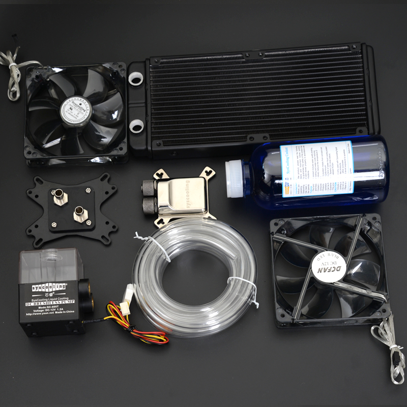 все цены на Syscooling Water cooling kit with aluminum heat sink CPU water block онлайн