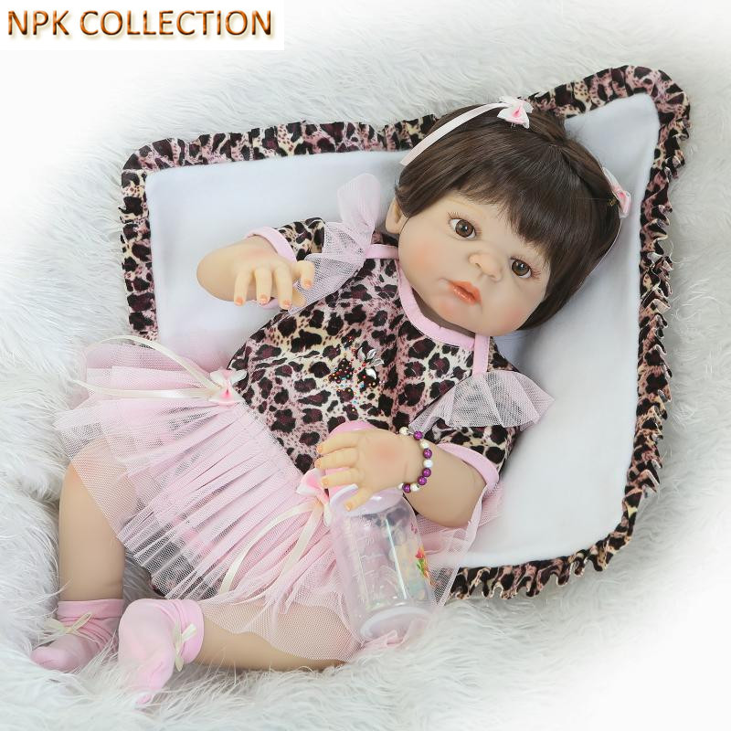 NPK COLLECTION 52CM Full Silicone Reborn Baby Dolls Handmade Realistic Reborn Doll Juguetes,21 Inch Reborn Babies Bonecas Toys 18 inch 42cm reborn babies dolls toys hand crocheted clothes soft silicone realistic handmade baby bonecas reborn brinquedos