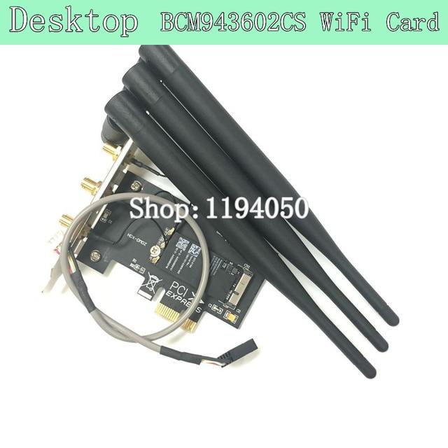 Broadcom BCM943602CS Desktop Dual Band 802.11 AC PCI-E Wi-Fi Bluetooth 4.0 WLAN CARD