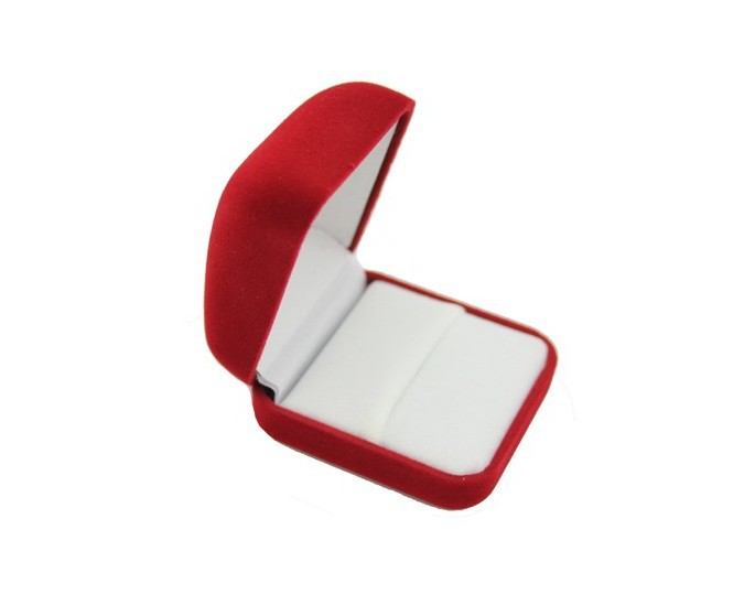 Free shipping 20pcs/Lot 5.5x5x2.8cm Red Velvet Jewelry Box Favor Ring/ Earring Packaging Box Display Gift Box Case