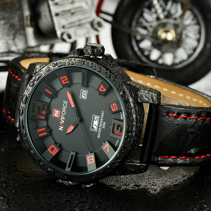 Luxury Brand NAVIFORCE Men Watch Quartz Date Military Sports Watches Men's Clock Casual Leather Wrist Watch relogio masculino 3