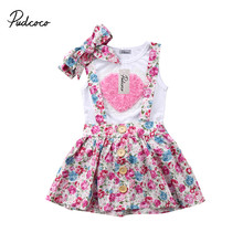 Hot sell Newborn Baby Kids Girls Clothes Sister Matching Cotton Clothes T-shirt Dress Pants Outfit Clothing Set