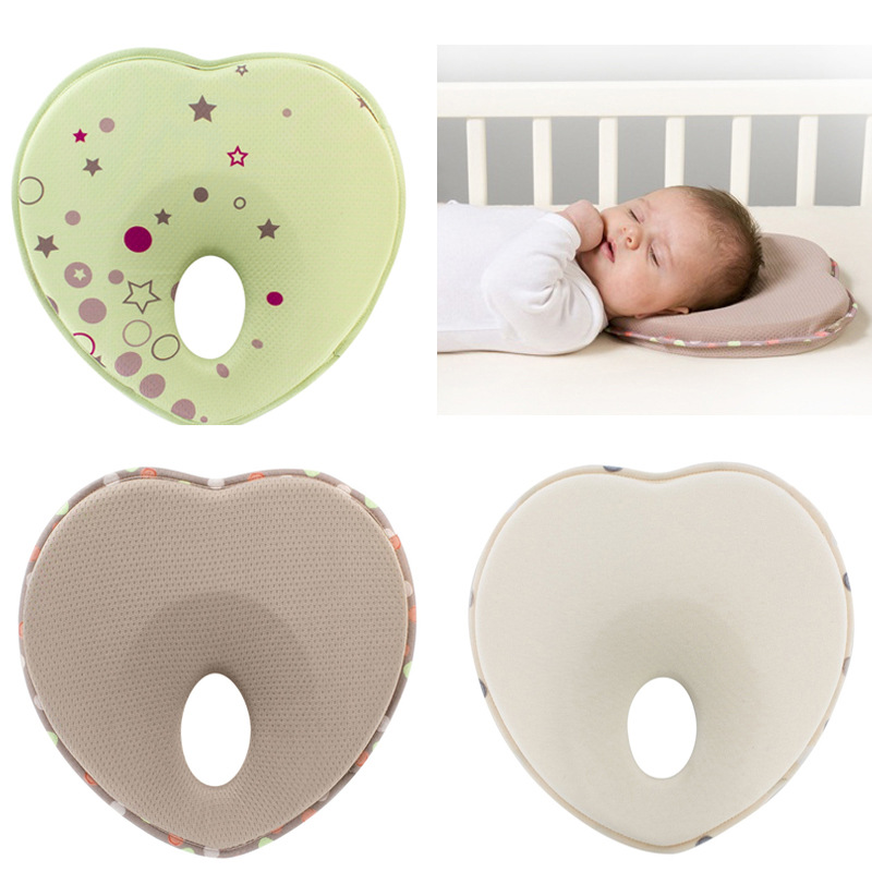 Infant head support kids shaped headrest sleep positioner anti roll cushion nursing baby pillow to prevent flat head YYT344