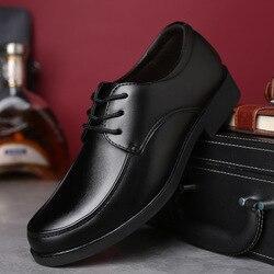 62e663fd1f 2018 novos Homens negros Formais outono Inverno Sapatos Homens Se Vestem  Sapatos de Marca Homens Sapatos