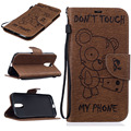 Медведь PU Кожаный Случаи Мобильного Телефона Для Motoroal Moto G4 G4 Плюс Покрытие Корпуса Hoood Сумка Щит Case Смартфон Оболочек вытяжки