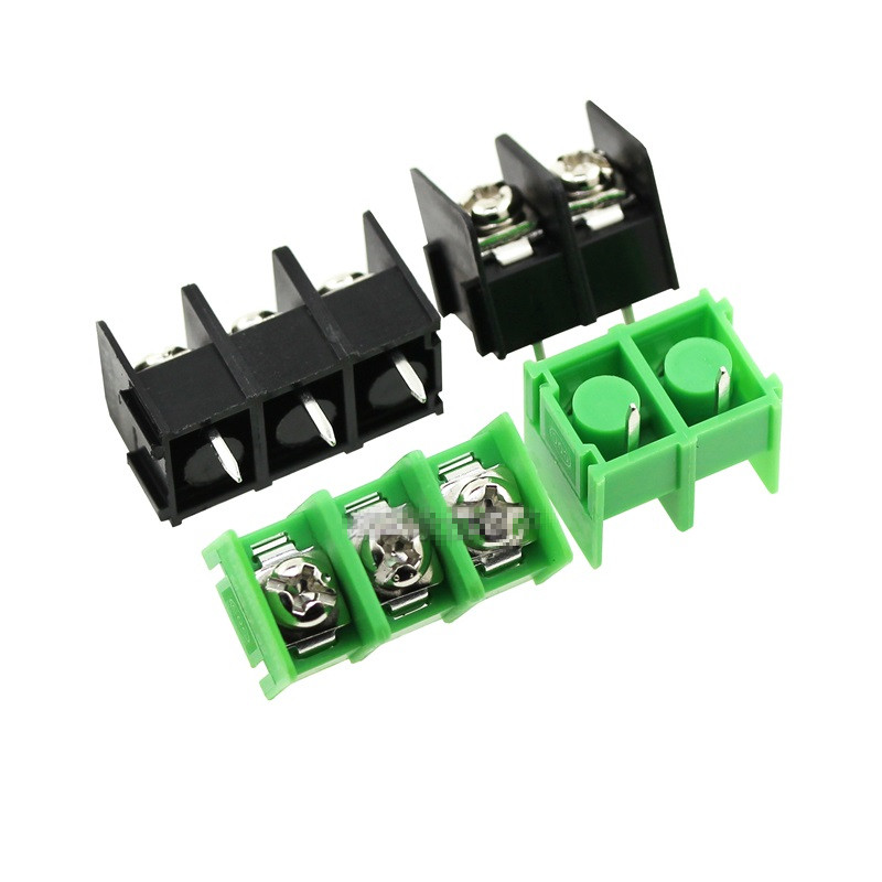 10PCS/lot 7.62 mm KF7.62 - 2P 3P 4P MG 762 - 2 3 4 Pin Can be spliced Screw Terminal Block Connector Black Green 7.62mm Pitch u convex pouch color block spliced edging band boxer brief