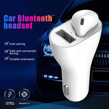 цена на USB Car Charger Bluetooth Headset 2 in 1 Wireless 5.0 Smart Outdoor Sports earphones SP99
