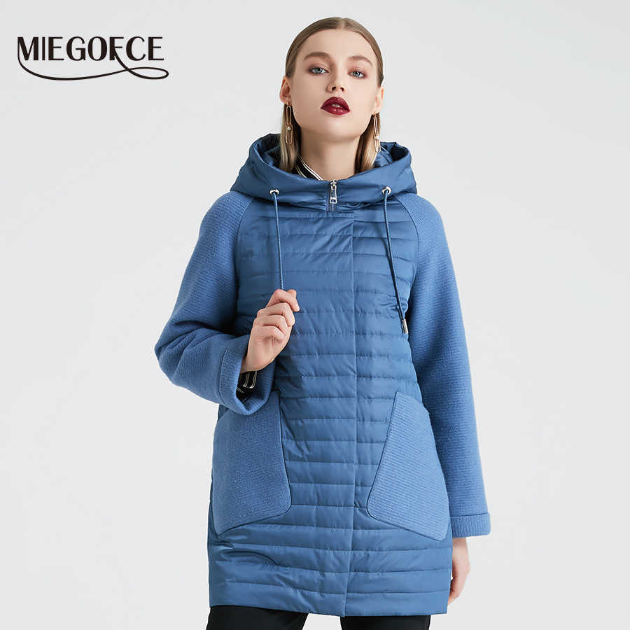 MIEGOFCE 2019 New Spring Autumn Collection Quilted Coat Women's Spring Hooded Jacket Women Parka Hot Sale