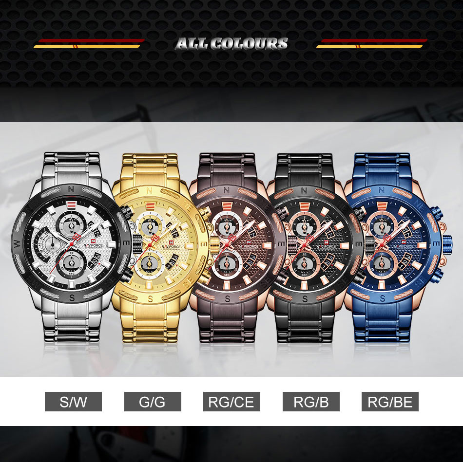 Naviforce Watch Available Colors - MiraShop