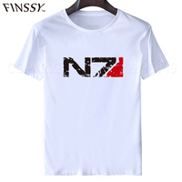 Mass Effect N7 T Shirt Special Forces Vintage T Shirts Men And Women Tee Size M