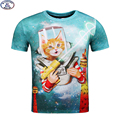Mr.1991 new arrive funny kitten printed 3D t-shirt for boys and girls summer style cat 3D t shirt 11-20 years big kids tops A31