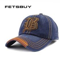 FETSBUY 2017 Hot Cotton Embroidery Letter B Baseball Cap Snapback Caps Fitted Bone Casquette Hat For Men Custom Hats Gorras