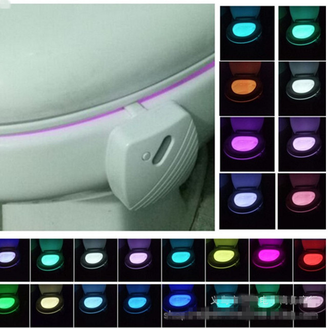 24-color Toilet Induction Light Hanging Toilet Seat Light Led Full-color Body Toilet Lid Cover Lights LED Night Light Nightlight