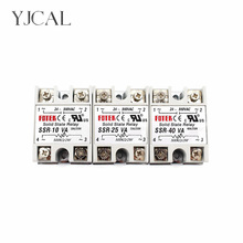 YJCAL Solid State Relay SSR-10VA SSR-25VA SSR-40VA 10A 25A 40A Relais Regulator 24-380VAC Output SSR 10VA 25VA 40VA solid state relay ssr 40va solid state relay for industrial automation process ssr 40va voltage relay