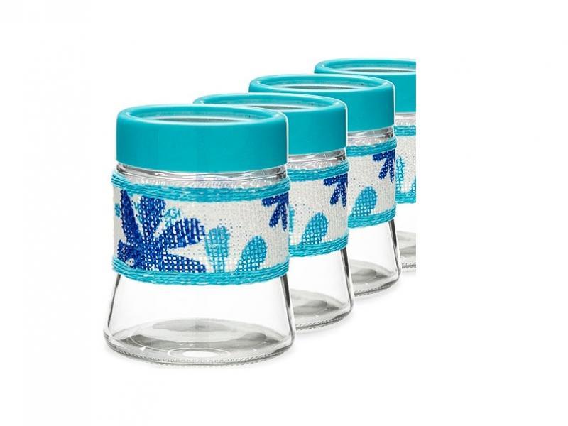 Набор банок для сыпучих продуктов LORAINE, 4 предмета набор банок для сыпучих продуктов rosenberg 3 предмета