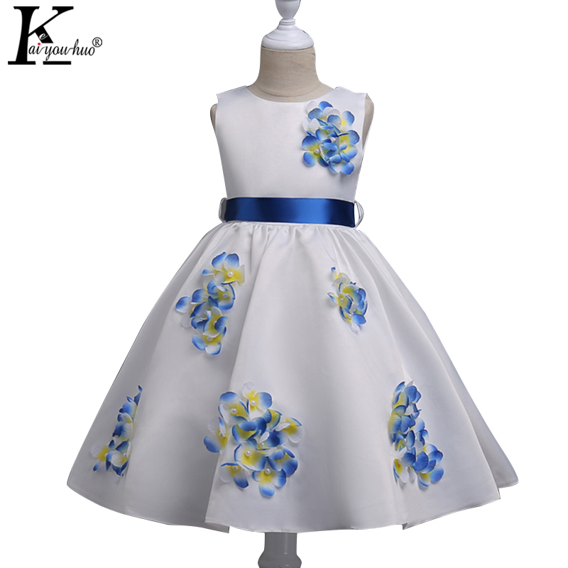 KEAIYOUHUO New Girls Clothes Summer Party Girls Wedding Dress Children Clothing Princess Kids Dresses For Girls Costume Vestidos girls dresses for party and wedding 2017 summer dress bow beads princess costume kids clothes for 2 6years old children y0067