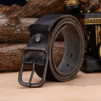 Luxury Genuine Leather Belt Men Vintage Cowskin Leather Belts Men T Jeans Strap Black Color Free