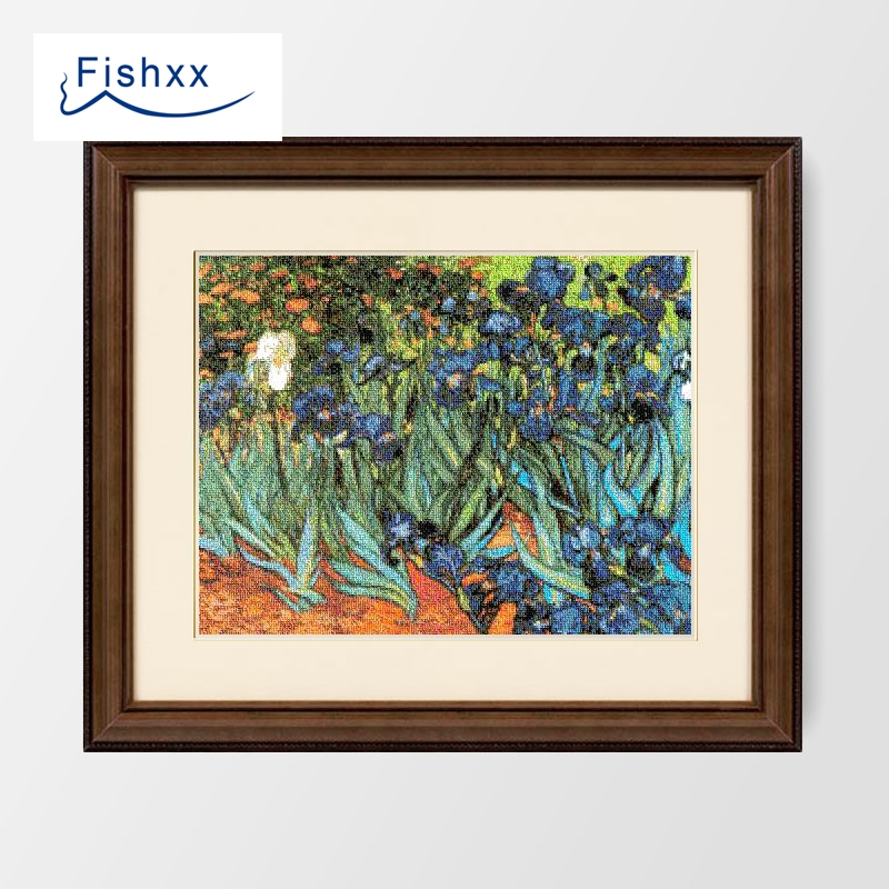 European Style Van Gogh Famous Painting Plant Flower Pattern Cross Stitch Set B083 Hand Embroidery Home Paintings